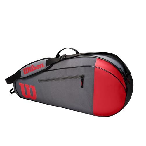 Wilson Team 3 Pack Racquet Bag (Red/Grey)