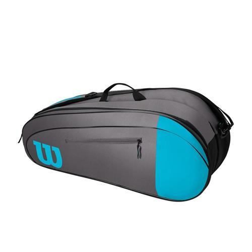 Wilson Team 6 Pack Racquet Bag (Blue/Grey)