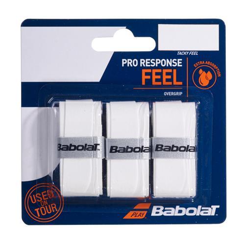 Babolat Pro Response Feel Overgrip 3pk (White)