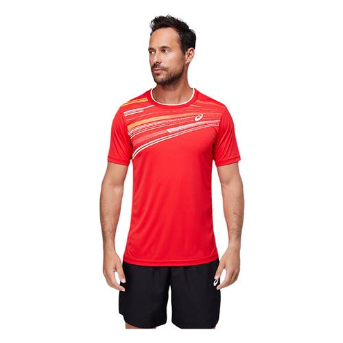 Asics Men's Court GPX Short Sleeved Top (Electric Red)