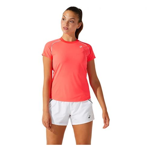 Asics Womens Court Piping Short Sleeved (Diva Pink)