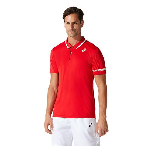 Asics Mens Court Polo Shirt (Classic Red)