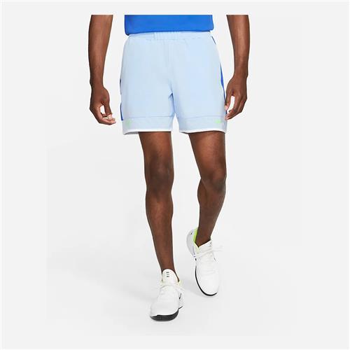 NikeCourt Dri-Fit Advantage RAFA Short (Aluminum/Hyper Royal/White/Lime Glow)