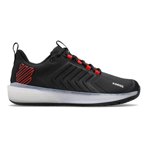 K-Swiss Bigshot Light 4 Junior Tennis Shoes (Black/White/Poppy Red)