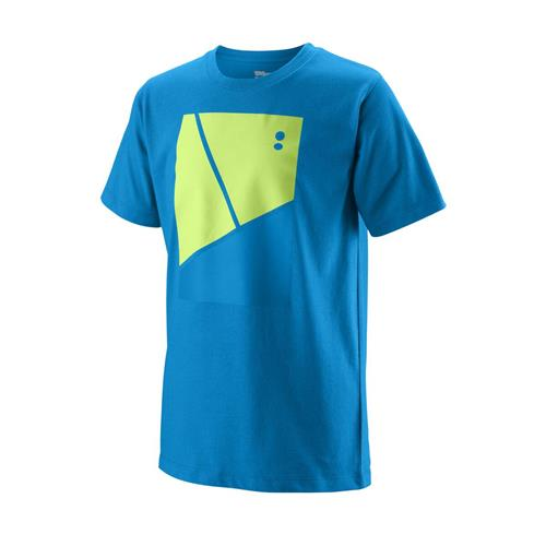 Wilson Boys Tramline Tech Tee (Brilliant Blue)