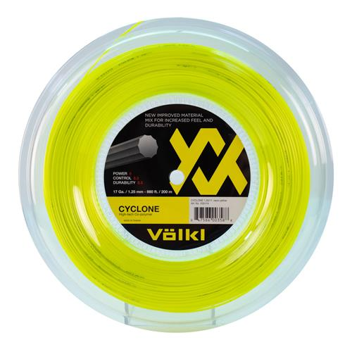Volkl Cyclone 125/17 200m Reel (Neon Yellow)