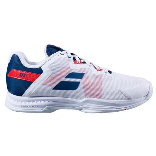 Babolat SFX3 All Court Mens Shoe (White/Estate Blue)