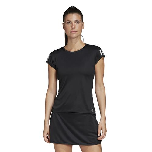 Adidas Womens Club 3 Str Tee (Black/Silver/White)