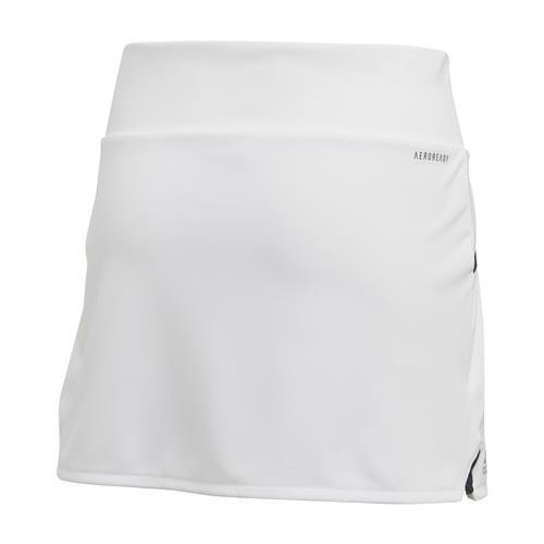 Adidas Girls Club Skirt (White/Silver/Black)