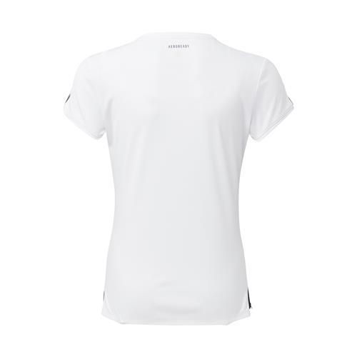 Adidas Girls Club Tee (White/Silver/Black)
