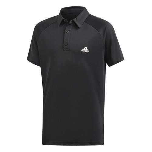 Adidas Boys Club Polo (Black/White/Black)